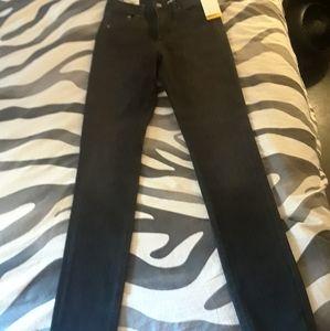 H&M size 28 off black 360 stretch skinny jeans